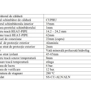 Tabel date tehnice 1