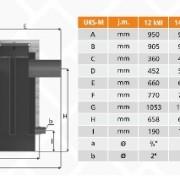 UKS-M 12-48 dimensiuni schita